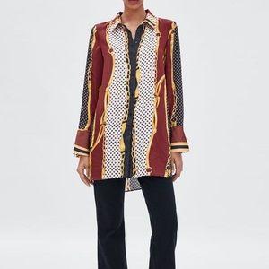 Zara Chain Print Blouse